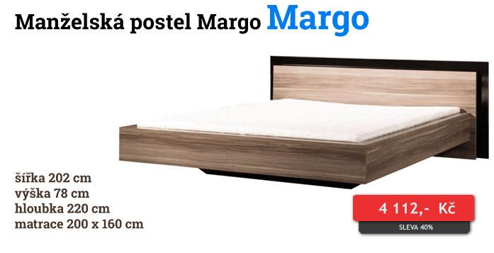 Manželská postel Margo