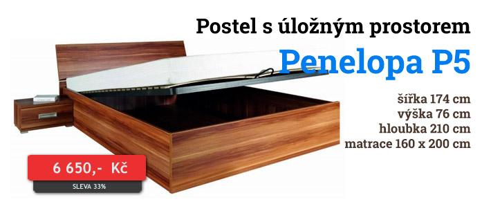 Manželská postel s úložným prostorem Penelopa P5 Maridex