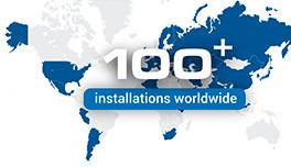 100+ installation worldwide