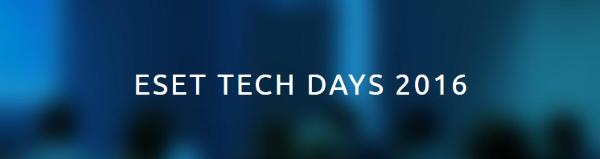 Blíží se nové ESET Tech Days, přihlašte se!