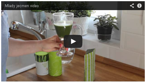 Zelený ječmen videonahrávka