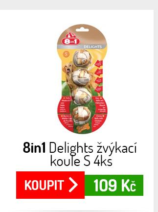 Koule 8in1 Delights žvýkací S 4ks