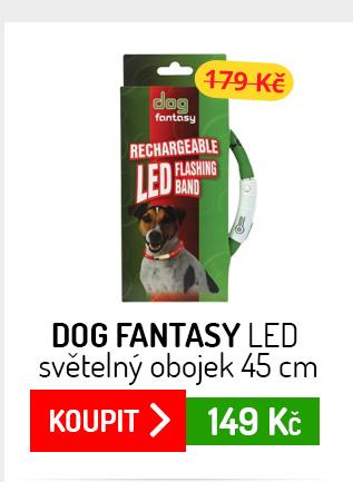 Dog Fantasy LED světelný obojek 45 cm