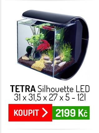 Akvárium set Tetra Silhouette LED černý 31x31,5x27x5 12l