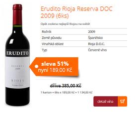 Erudito Rioja Reserva DOC 2009 (6ks)