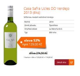 Casa Safra Ucles DO Verdejo 2013 (6ks)