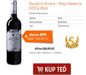 Faustino Rivero - Rioja Reserva DOCa (6ks)