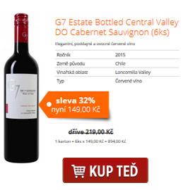 G7 Estate Bottled Central Valley DO Cabernet Sauvignon (6ks)