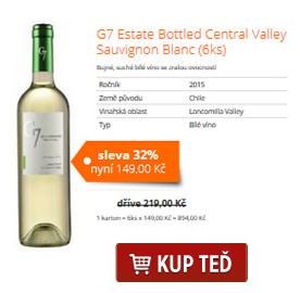 G7 Estate Bottled Central Valley Sauvignon Blanc (6ks)