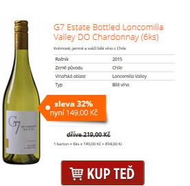 G7 Estate Bottled Loncomilla Valley DO Chardonnay (6ks)