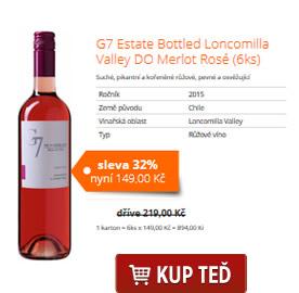 G7 Estate Bottled Loncomilla Valley DO Merlot Rosé (6ks)