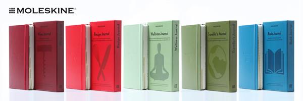 zápisníky Moleskine Passion Journal jako dárek
