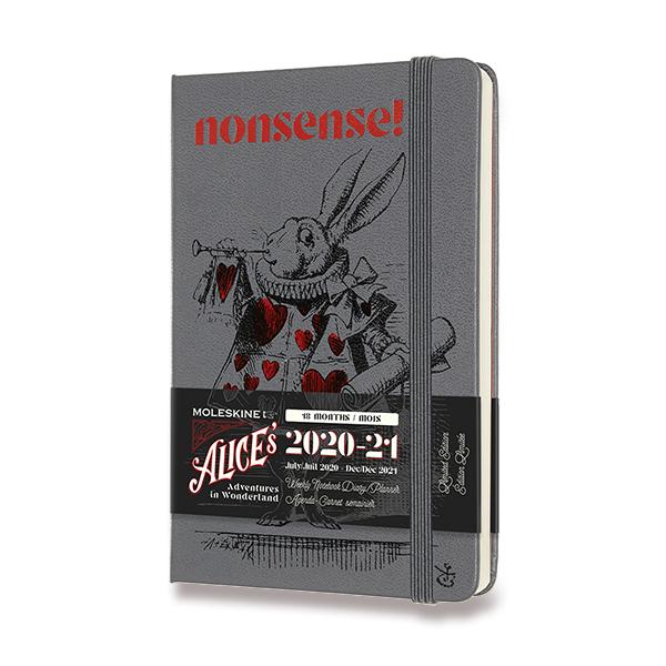18měsíční diář Moleskine 2020-21 v limitované edici Alenka v říši divů