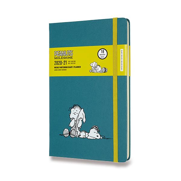 18měsíční diář Moleskine 2020-21 v limitované edici Peanuts