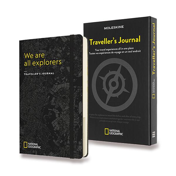 černý zápisník Moleskine Passion Travel National Geographic