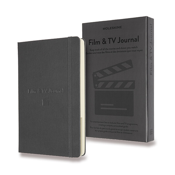 tmavě šedý zápisník Moleskine Passion Film & TV Journal