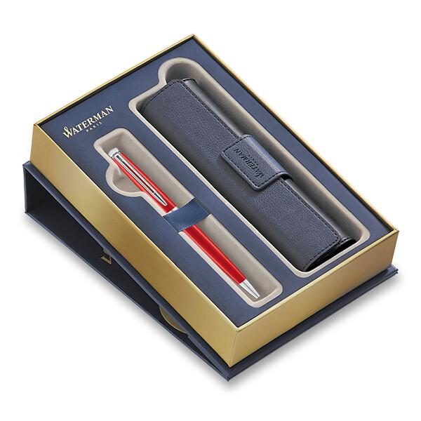 červená kuličková tužka Waterman v dárkové kazetě s pouzdrem