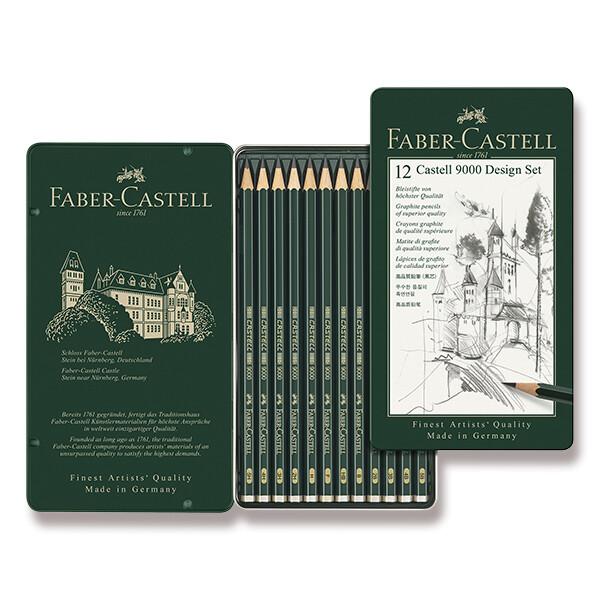 špičkové grafitové tužky Castell 9000 v sadě