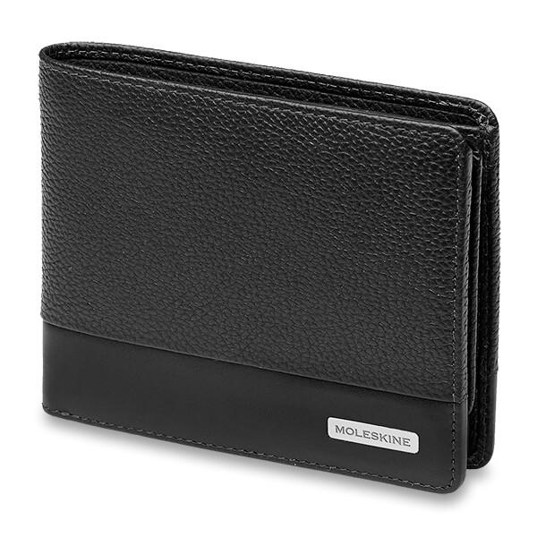 černá pánská peněženka Moleskine z kůže