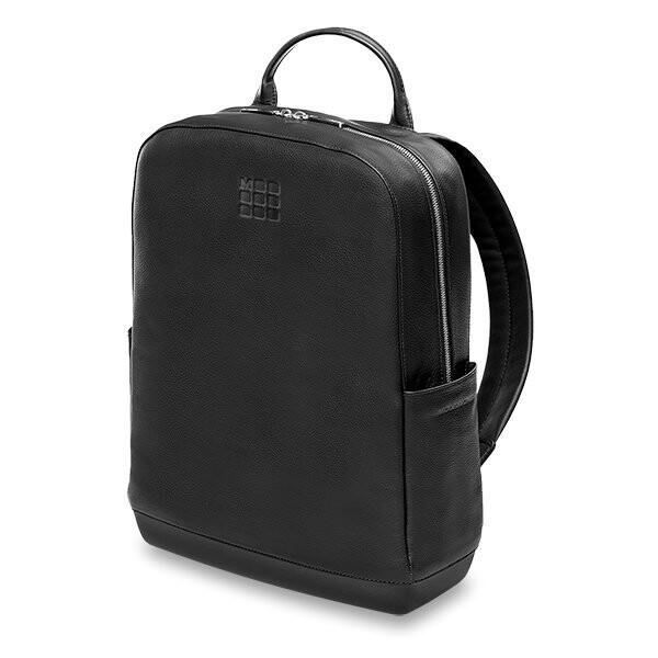 černý kožený batoh Moleskine