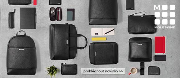 nové černé batohy, tašky a peněženky Moleskine