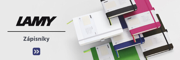zápisníky LAMY v různých barvách